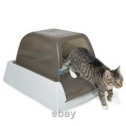 Auto Litter Box Kitty Cat Tray Self Cleaning Crystal Automatic Enclosed with Lid