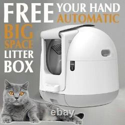 Automatic Cat Litter Box Self Cleaning Litter Smart Large Enclosed Kitty Litter