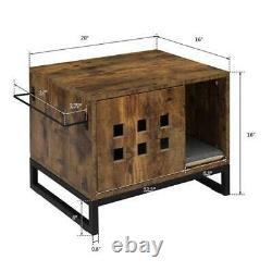 Cat Litter Box Enclosure Covered Litter Box Enclosed Cat House Condo Side Table