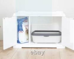 Cat Litter Box House Hidden Cabinet Extra Large Enclosure Furniture Covered Bed
