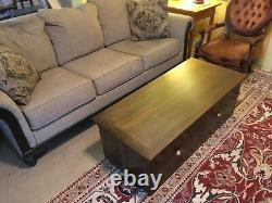 Cat litter box contained inside a Walnut Coffee Table