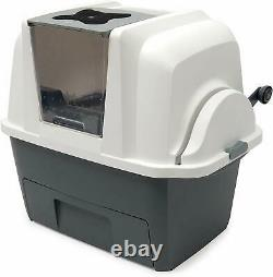 Covered Self Cleaning Multi Cat Liter Box Automatic Scoop Kitty Litter Pan Clump
