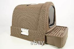 Curver Style Cat Litter Box mocca- Cattoilet Hooded Litter box