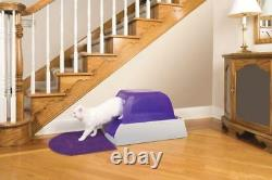 NEW Scoop Free Automatic Dispose Self-Cleaning Kitty Cat Litter Box Tray Covered