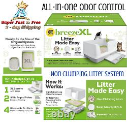 Non Clumping Litter Box System Large Size All Purpose With Scoop Disposable Mat