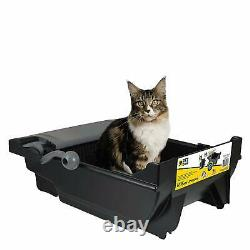 Self Cleaning Cat Litter Box Automatic Touchless Waste Bin Pan Bags Filter Kitty