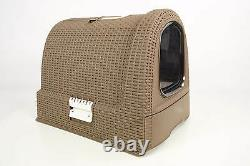 Curver Style Cat Litter Box Mocca- Cattoilet Hooted Litter Box