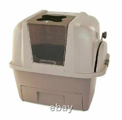 Smart Sift Kitty Litter Box Cat Pan Automatic Waste Sift Scoop Clumping Tan